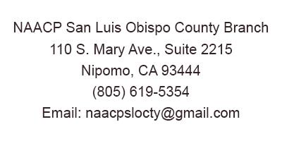 NAACP SLO County Contact Info